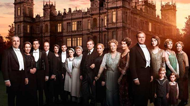 El castillo de la serie Downton Abbey