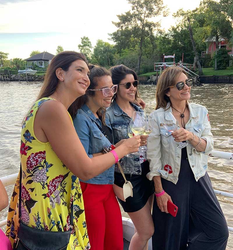 Vinos a Bordo en el Delta de Tigre